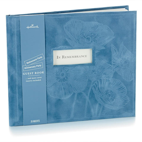 Blue Suede Guest Book