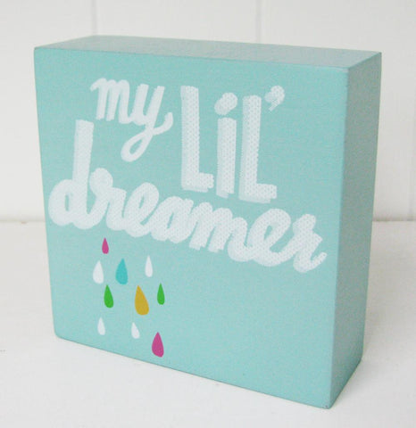 My Lil' Dreamer Wall Art Block