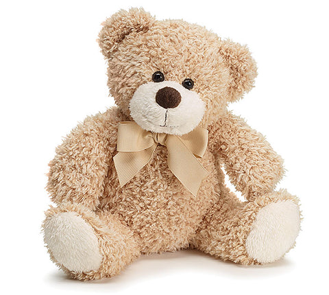Burton & Burton LIGHT BROWN PLUSH BEAR W/CHECKED BOW