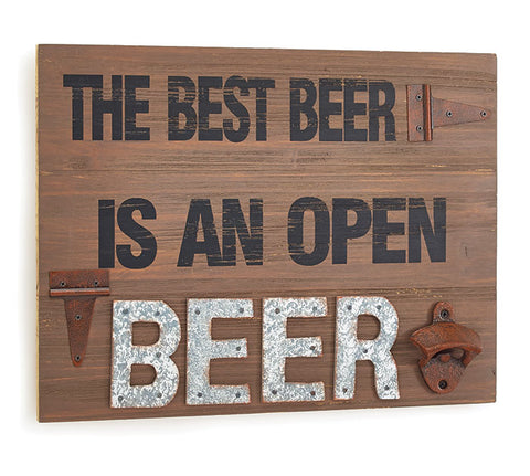 THE BEST BEER RUSTIC WOOD WALL HANGING