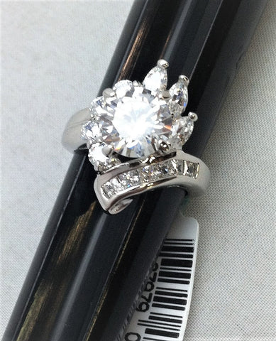 R.S. Covenant 728 Elegant Cz Burst Ring Size 7