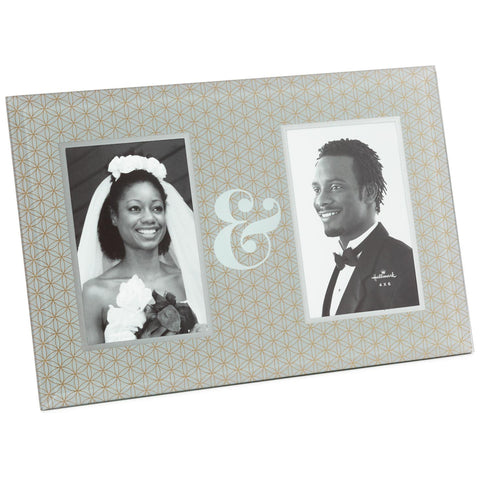 Hallmark Ampersand 2-Photo Picture Frame, 4x6
