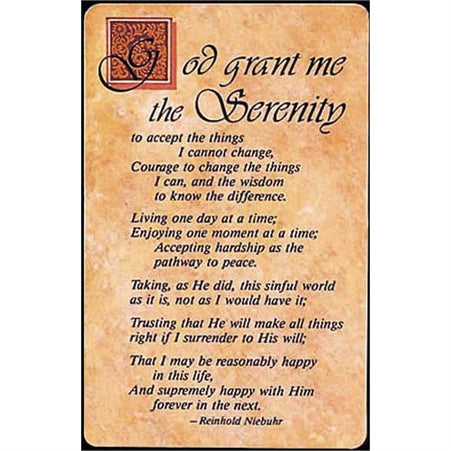 Dicksons BKM-501 Pocket Card Bookmark Pack of 12 – Complete Serenity Prayer