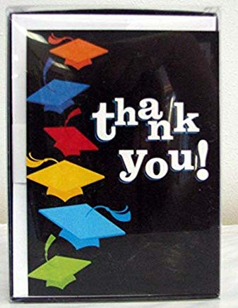 Hallmark Graduation GNH6154 Tossed Hats 20 Thank You Notes