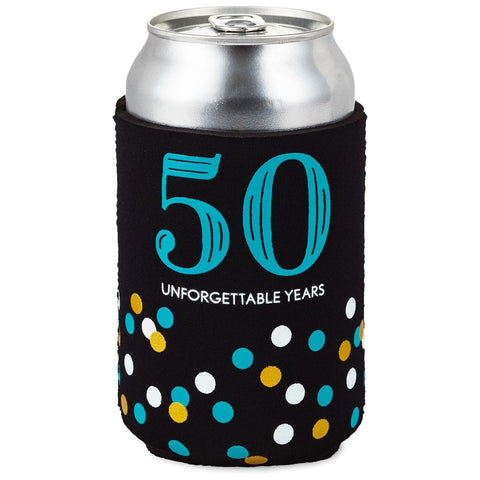 Hallmark 50 Unforgettable Years Fabric Can Cooler