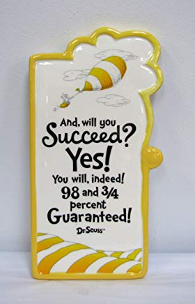 "Hallmark SEU1016 ""and Will You Succeed? Yes!"" Wall Plaque"