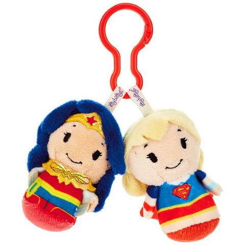 Hallmark DC Super Hero Girls™ Wonder Woman™ and Supergirl™ itty bittys® Clippys Stuffed Animals