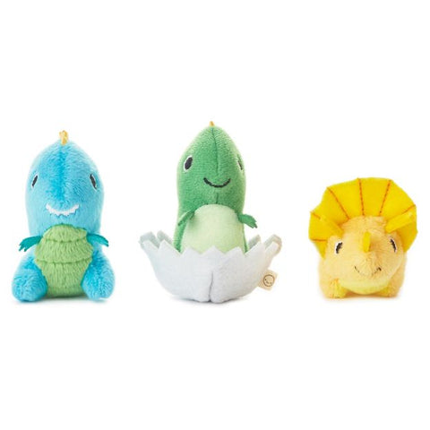 Happy Go Luckys - Dino Dudes Mini Stuffed Animals (Set of 3)