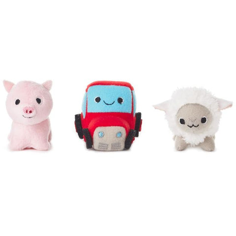 Happy Go Luckys - Farm Friends Mini Stuffed Animals (Set of 3)