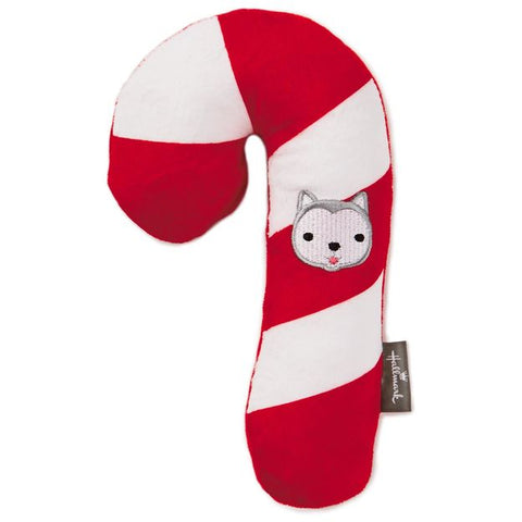 Hallmark 495XKT1394 Jingle Stuffed Candy Cane Pet Toy