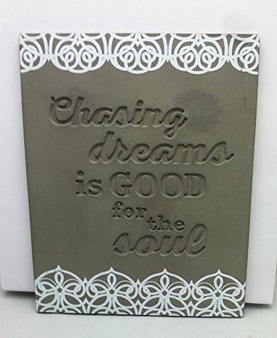 Hallmark CMT1012 - Chasing Dreams Stone Wall Plaque