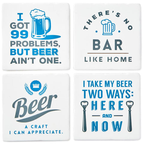 Hallmark Beer Appreciation Ceramic Coasters