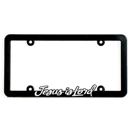 Dicksons LF-7012 Jesus is Lord License Plate Frame - Black