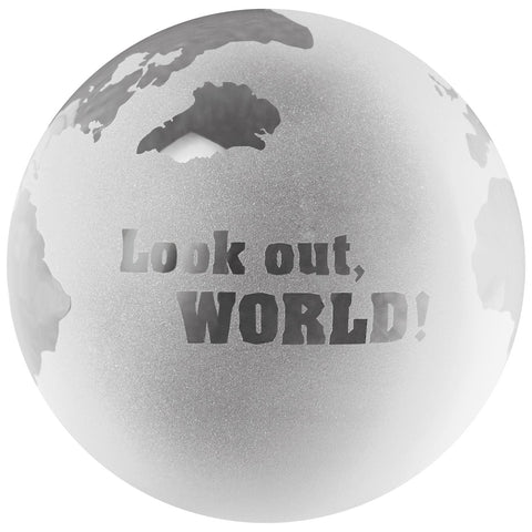 Hallmark Look Out World Globe Paperweight