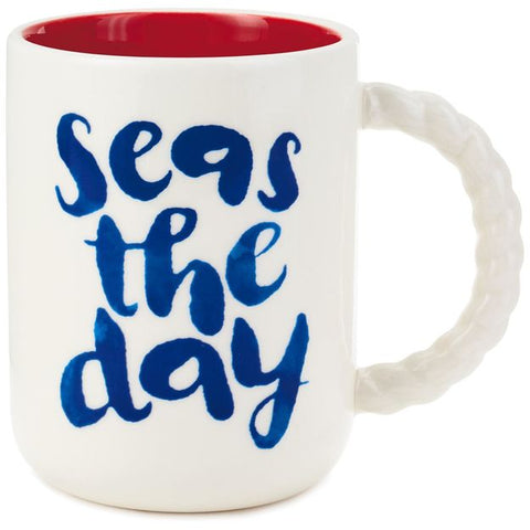 Hallmark Nautical Seas The Day Mug, 14 oz.