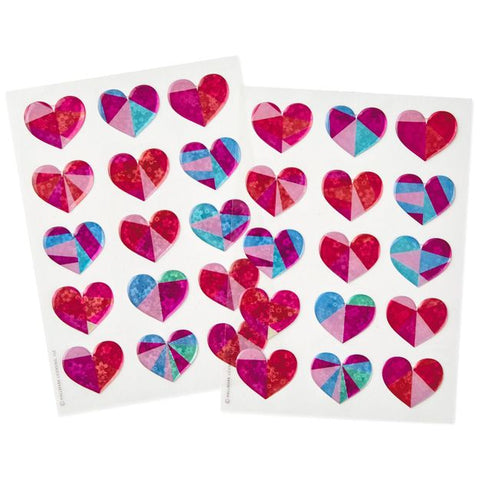 Hallmark Prism Valentine Hearts Stickers, Pack of 30