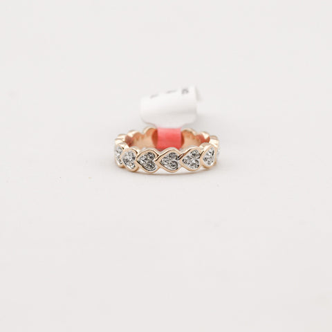 Crystal Heart Band Ring