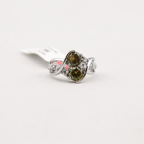 Olive Cubic Zirconia Ring
