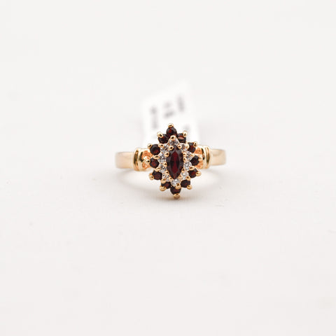 Imit Ruby With Cubic Zirconia Ring