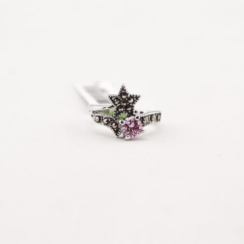 Pink Marcasite Ring