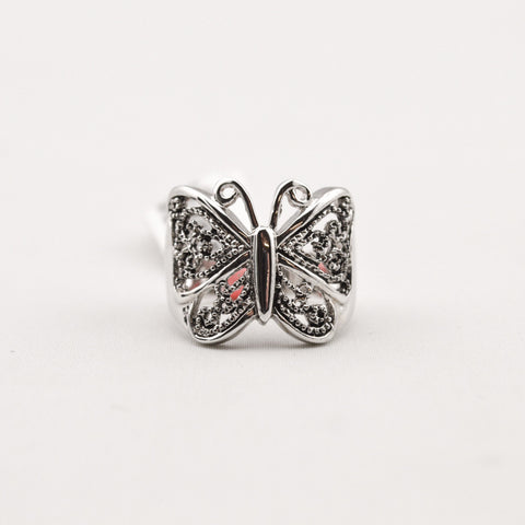 Oxidized  Butterfly Ring