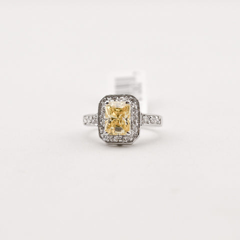 Canary Cubic Zirconia Ring