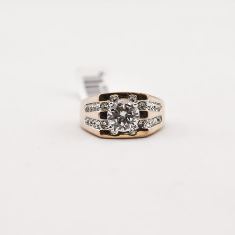 Cubic Zirconia Crystal Ring