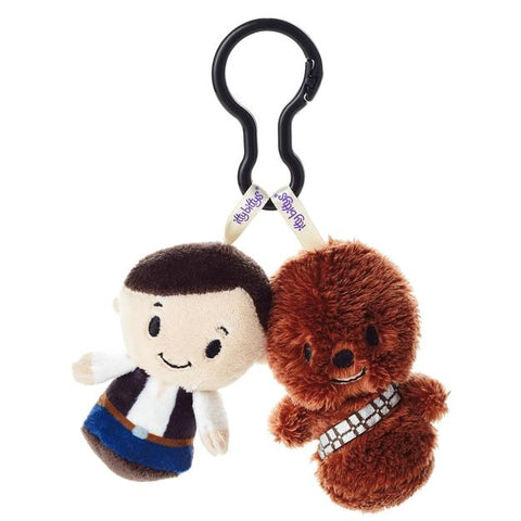 Hallmark Star Wars Han Sol and Chewbacca itty bittys Clippys Stuffed Animals