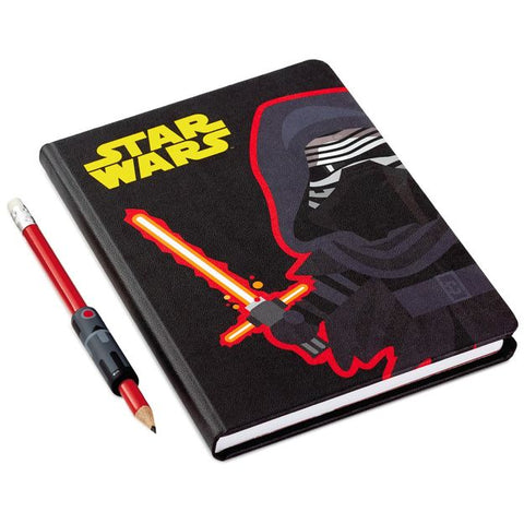 Hallmark Star Wars Journal & Pencil & Grip Set (Kylo Ren)