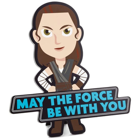Hallmark Star Wars May The Froce Be With You Rey Wall Art