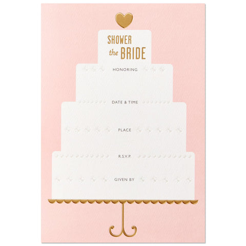 Hallmark Signature Bridal Shower Cake Invitations (Box of 12)