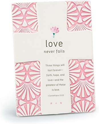 Lighthouse Christian Products 11327 Love Never Fails Plaque