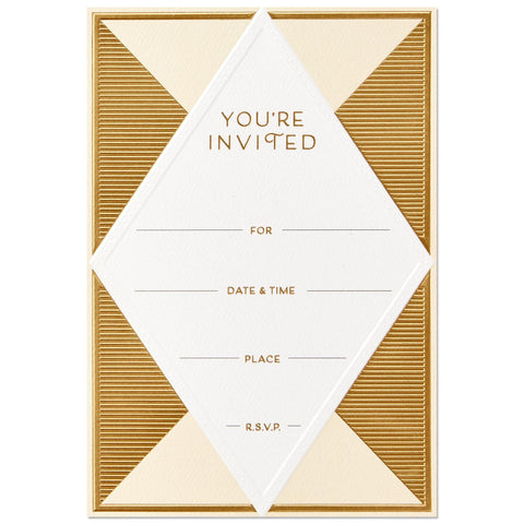 Hallmark Signature Diamond Invitations (Box of 12)