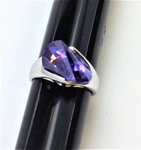 R.S. Covenant 4180 Sterling Silver & Purple Tanzanite Ring Size 6