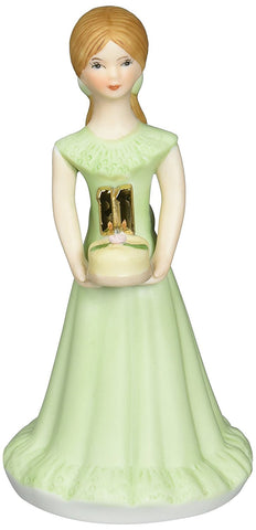 Growing up Girls from Enesco Brunette Age 11 Figurine 5.5 IN