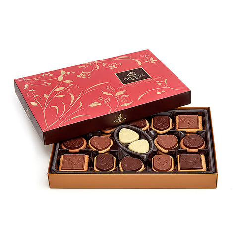 Godiva Assorted Chocolate Biscuit Gift Box, 32 pc