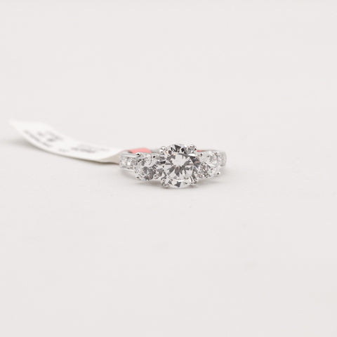 R.S. Covenant 4395 CZ/CZ/CZ Silver Ring Size 9