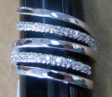 R. S. Covenant 713 Womens CZ Fancy Swirl Ring SZ 8