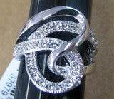 R. S. Covenant 1815 Womens Austrian Crystal Ring SZ 8