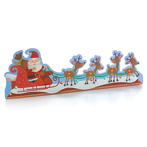 Hallmark Christmas LPR2409 Lighted Santa TV Topper