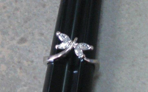 R. S. Covenant 4312 Silver CZ Butterfly Ring Size 9