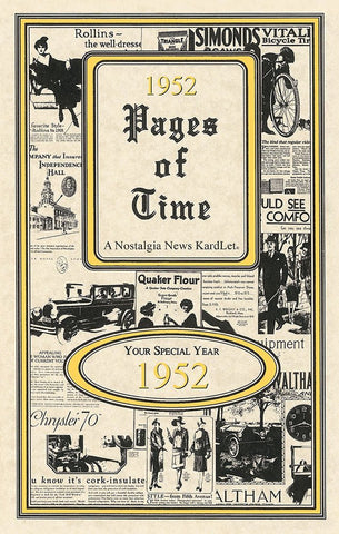1952 Pages Of Time A Nostalogic Look Back in Time