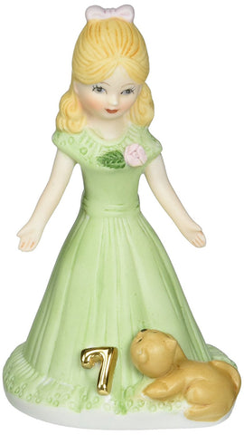 Growing up Girls from Enesco Blonde Age 7  4.5 IN