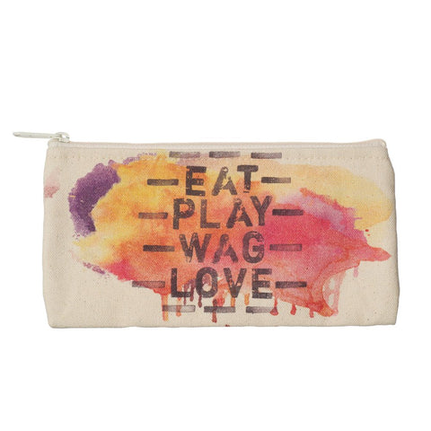 Gratitude 422313  Zip Pouch Small - Eat Play Wag Love By Tiffany Stout