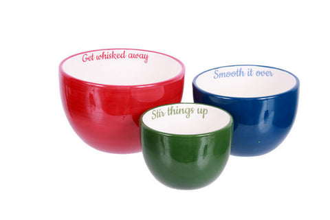 DEI 55406 - Farm To Table Ceramic Mix it Up Nested Bowls Set of 3