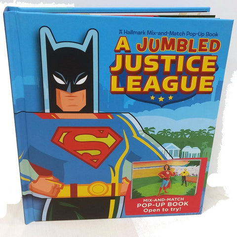 HALLMARK - JUMBLED JUSTICE LEAGUE MIX/ MATCH POP UP BOOK