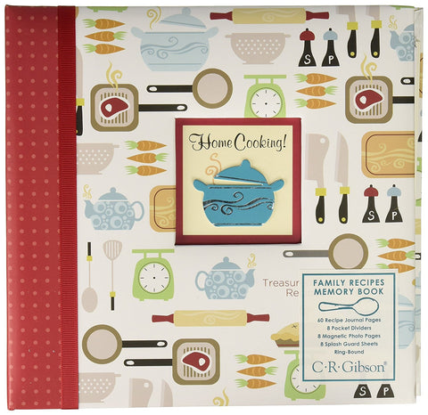 C.R. Gibson QPM-8955 - Home Cooking Design  Family Recipe Memory Book