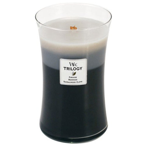 Woodwick Trilogy Lg Jar Warm Woods