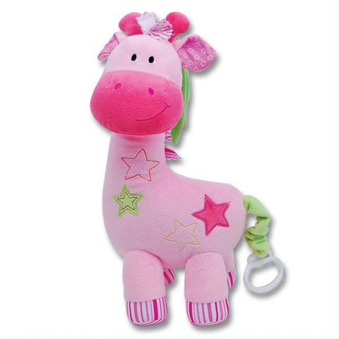 12'' MUSICAL GIRAFFE PLUSH (PINK)
