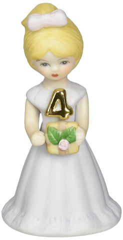 Growing up Girls from Enesco Blonde Age 4 Figurine 3.5 IN